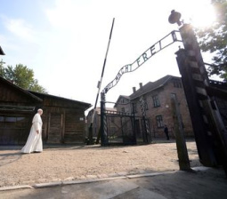 Pope visits Auschwitz, says same horrors happening today