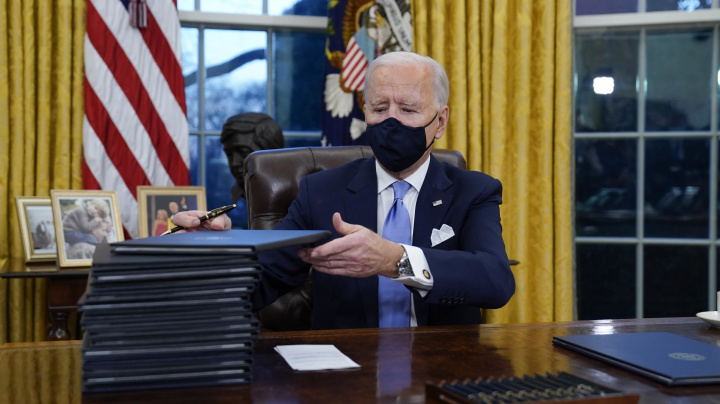 GOP alarmed at number of Biden executive orders
