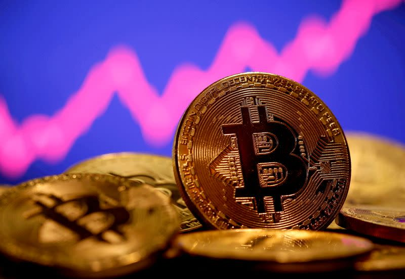 Bitcoin falls 5.2% to $33849 Ether down 6.3% – Yahoo Finance