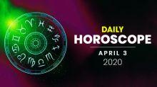 Daily Horoscope: 03 April 2020