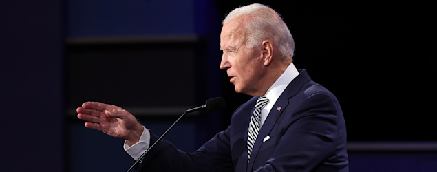 Joe Biden participates in the first presidential debate. (Getty Images)