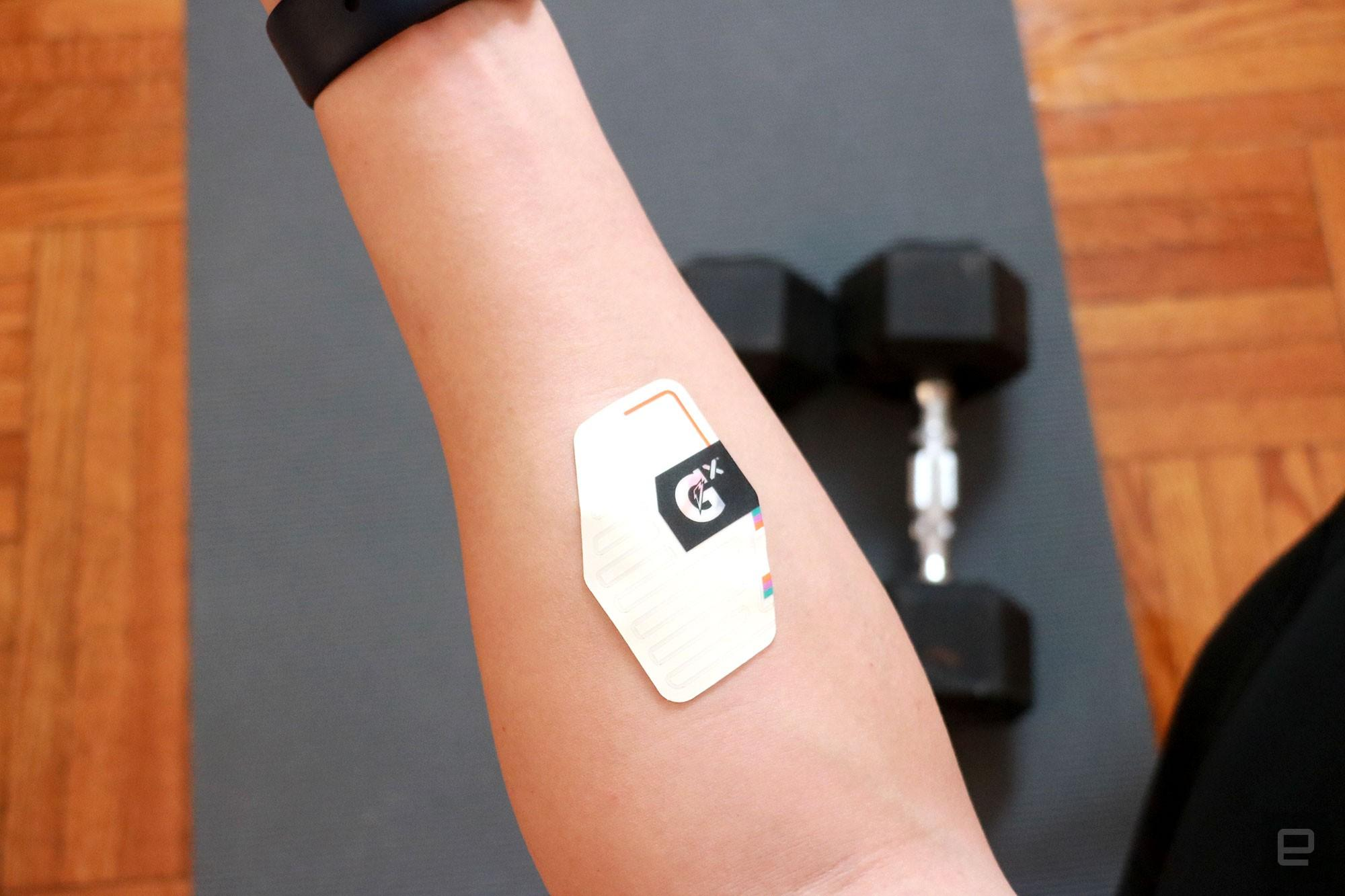 Gatorade made a sweat patch to track your perspiration