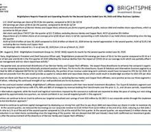 BrightSphere Reports Financial and Operating Results for the Second Quarter Ended June 30, 2020