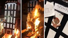 Man who set fire to cardboard model of Grenfell Tower and posted sick footage online charged