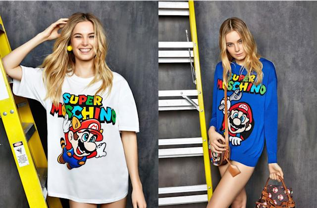 Fashion brand Moschino is making a 'Super Mario' collection