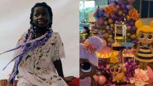 """Titi completa 7 anos e ganha festa decorada pelos pais: """"Nossa princesa"""""""