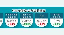 中電去年少賺5% 增派息 利潤管制協議拖累業績 股價插3%