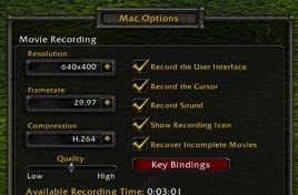 WoW 2.2 Mac client in-game video capture