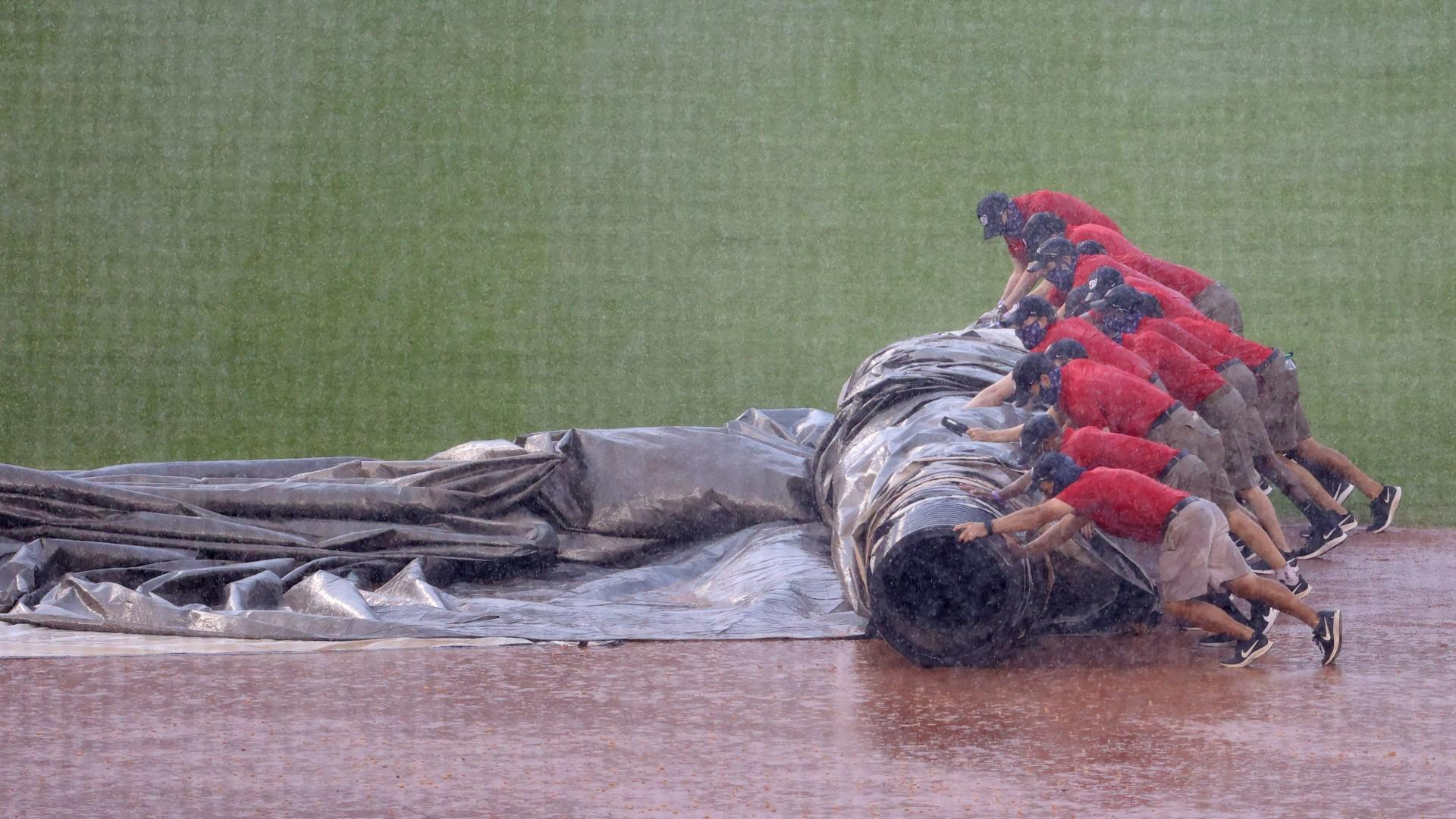 Rule 7.02, malfunctioning tarps and sweeps: Orioles-Nationals game on Sunday postponed