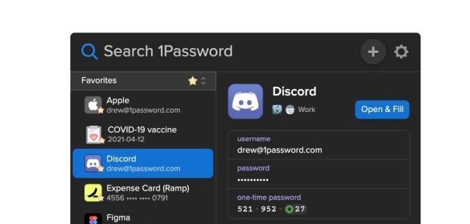 1Password dark mode