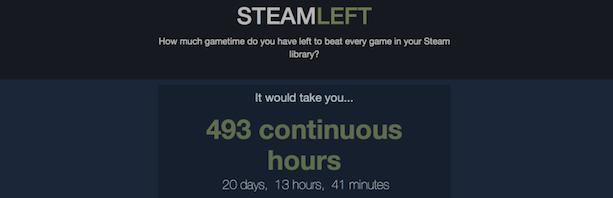 How many hours would it take to clear your Steam library?