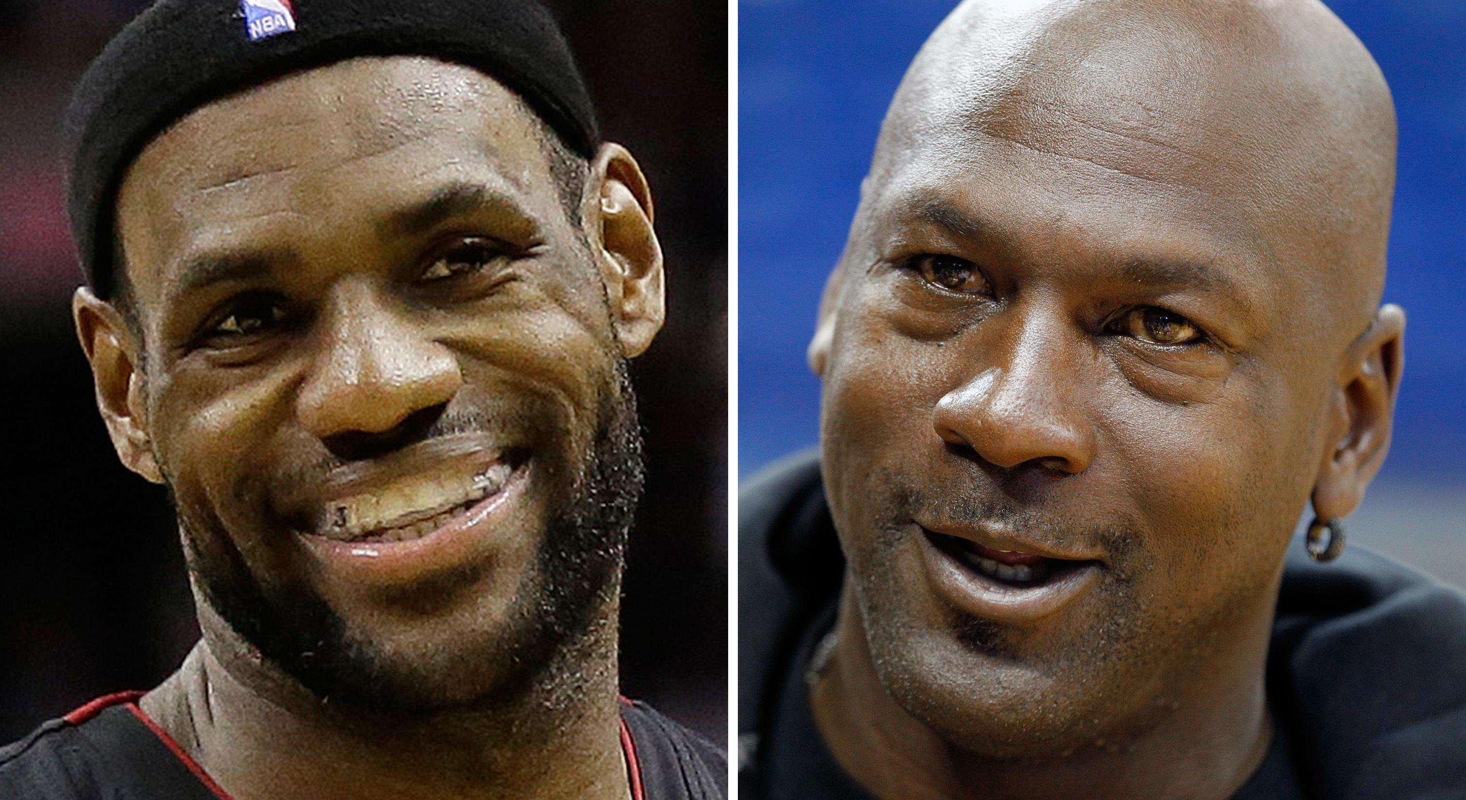 5e5cbd450ef LeBron James jokes that he's 'ready' for Michael Jordan's one-on-one GOAT  challenge
