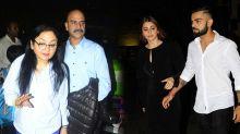 Watch: Anushka Sharma's Family Returns To Mumbai For Grand Wedding Reception!