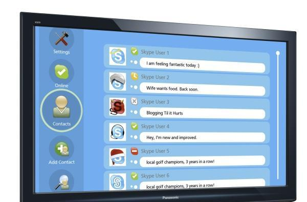 Skype HD: 720p videocalling from PCs or directly through LG & Panasonic HDTVs