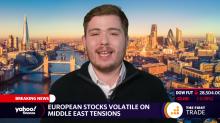 European stocks volatile on Middle East tensions