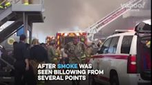 Sailors injured after massive blaze on US warship