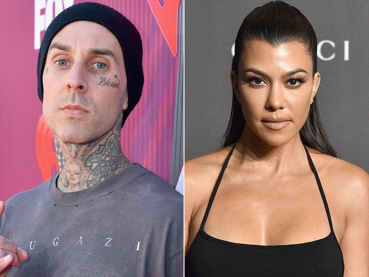 Kourtney Kardashian and Travis Barker Celebrate Their ...