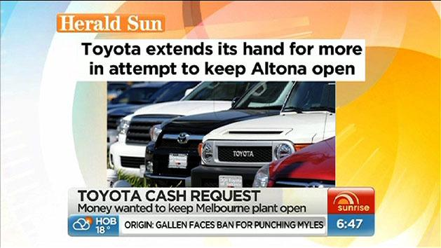 Toyota asks for cash injection