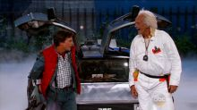 Marty McFly and Doc Brown Travel to 'Jimmy Kimmel Live'