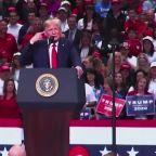 Trump blasts Democrats at raucous Dallas rally