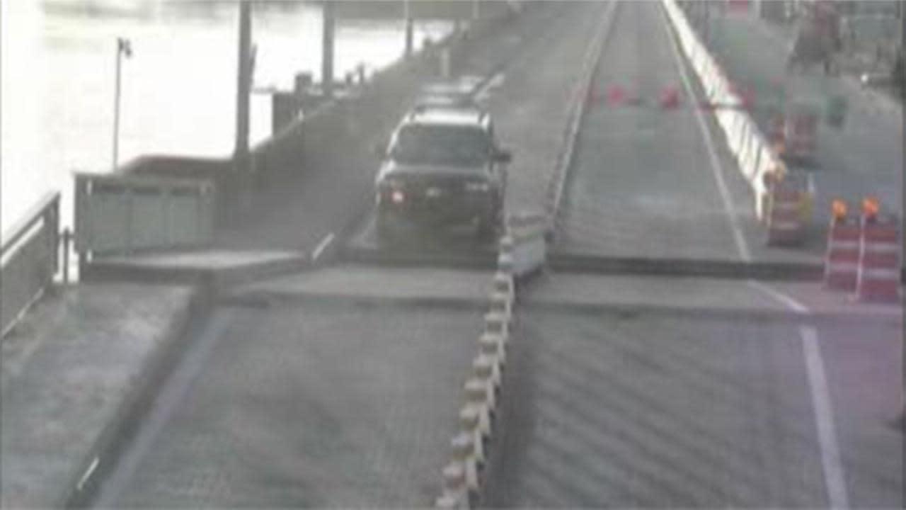 Driver's SUV jumps a drawbridge in Florida