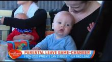 New mums and dads getting flexibility with parental paid leave