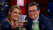 Elizabeth Olsen Launches Her Lifestyle Brand on 'The Late Show With Stephen Colbert'