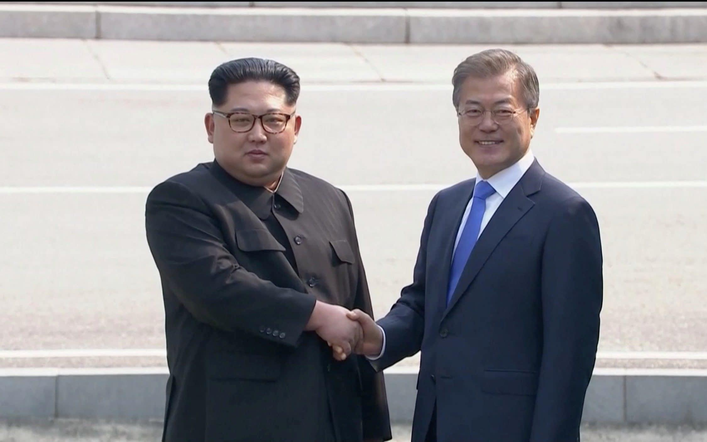 Kim Jong-un hails 'era of peace' as North Korean leader holds historic summit with President Moon Jae-in - live updates