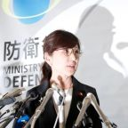 Japan defense minister quits amid plunging support for PM