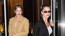 Gigi and Bella Hadid Do Twinning Red Carpet Style at Serena Williams's Premiere for HBO