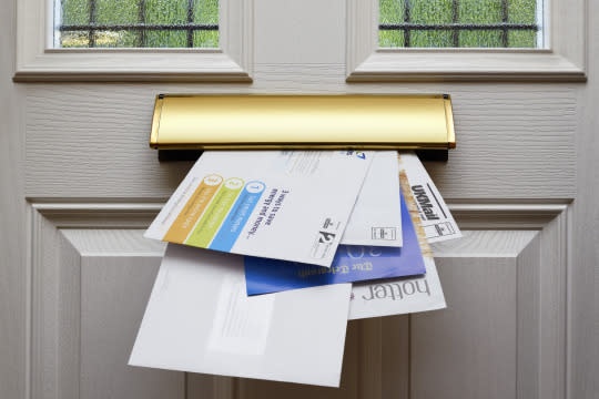 "<p>An overflowing mailbox identifies an easy target for burglars, because it means the residents are more than likely out of town. Have someone pick up your mail, or <a href=""https://www.servicehold.com/?gclid=CP_avIKJqskCFQuPHwodz_oIuA"" rel=""nofollow noopener"" target=""_blank"" data-ylk=""slk:put it on hold"" class=""link rapid-noclick-resp"">put it on hold</a> at the post office. <i>(Photo: Simon Belcher/imagebroker/Corbis)</i></p>"