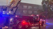 Kansas City fire crews battle blaze at former Catholic school on Swope Parkway