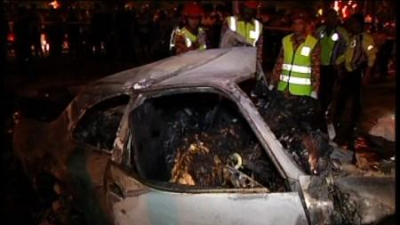 KG PANDAN ACCIDENT : SIX FOREIGNERS KILLED IN FIERY CAR CRASH