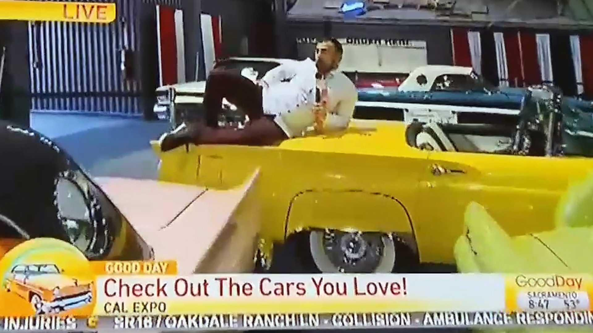 Ca reporter fired after damaging cars at sacramento auto show
