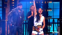 Olivia Munn Defeats Kevin Hart in 'Lip Sync Battle,' Gets Smacked