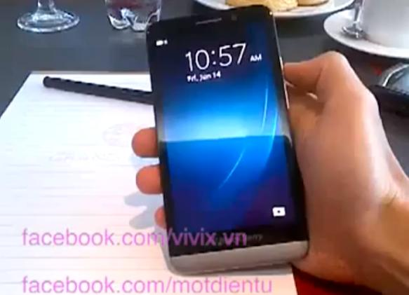Purported BlackBerry A10 'Aristo' briefly flaunted in video leak