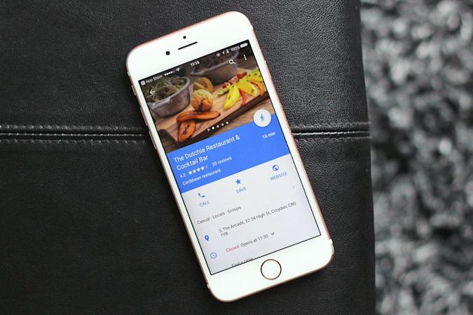 Google adds a food delivery shortcut to Maps for iOS