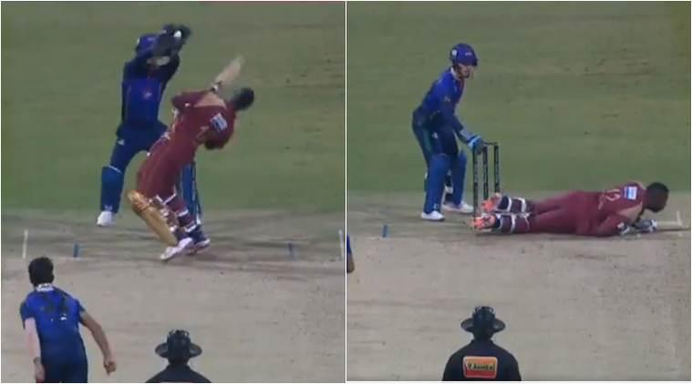 Watch: Andre Russell gets floored by Afghan spinner Qais Ahmad's bouncer