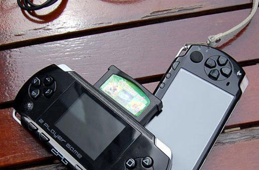 Keepin' it real fake, part CLXVII: 2PG PSP knockoff adds second controller, nothing else