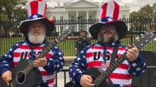 Jack Black jokingly campaigns outside White House for Tenacious D in 2020 — and stirs up Trump supporters