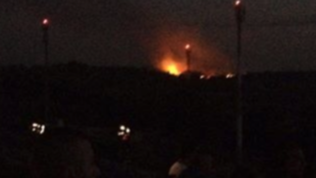Footage Captures View of Gaza From Sderot Following Airstrikes