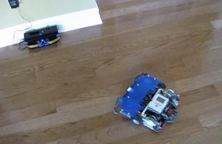 Pulito, the Lego Mindstorms swiffer-bot that seeks out electricity (video)