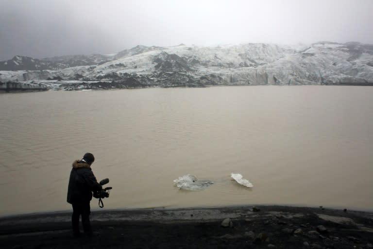 Solheimajokull has been receding every summer since 1996 (AFP Photo/THIBAULT CAMUS)