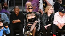 Nicki Minaj's courtside outfit was about as far from sports-appropriate as you can get