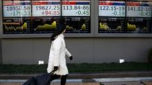 Asia stocks rise, but gains for dollar, oil capped by jitters