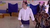 Greek prime minister votes in referendum