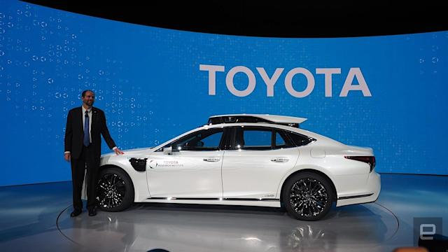 Toyota will offer rides in self-driving cars at the Tokyo Olympics