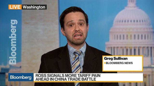 Ross Signals More Tariff Pain Ahead in China Trade Battle