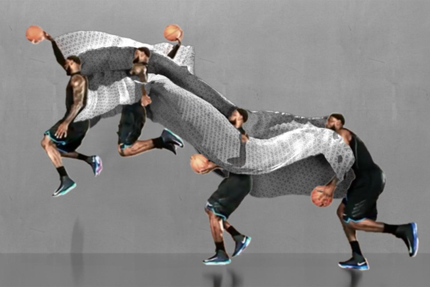 Wormlike motion sculptures show how athletes move in 3D