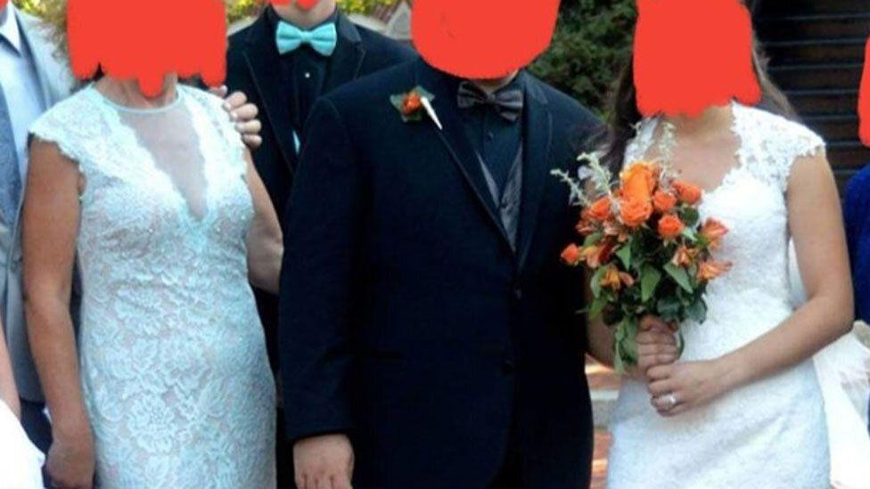Mother-in-law breaks the rules by wearing a bridal dress at her son's wedding
